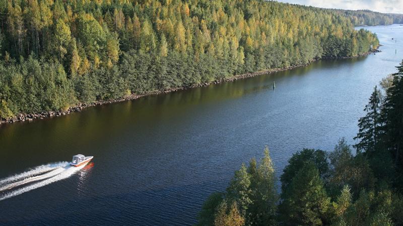 Finlands sjöar med Saima kanal